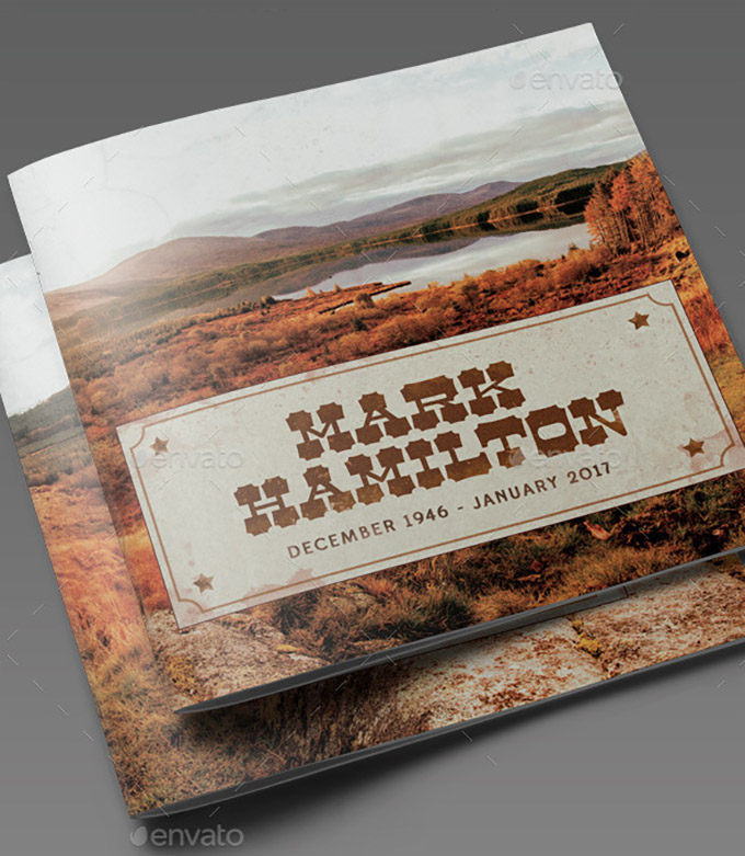 far west style funeral template
