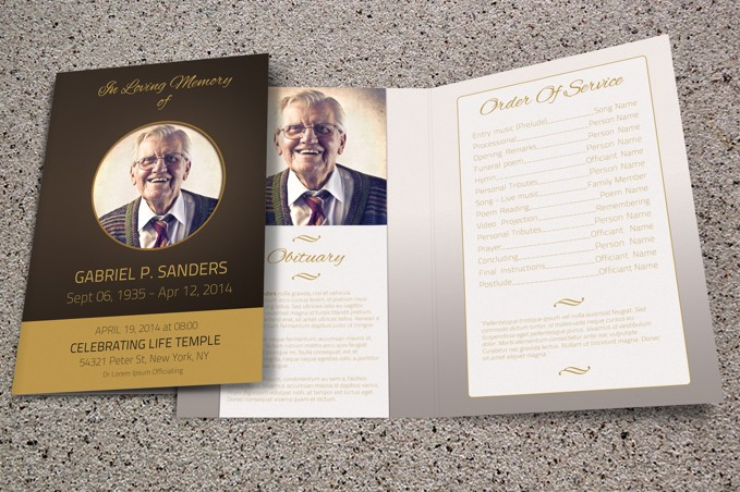 Contemporary Funeral Template  Free Funeral Pamphlet Template